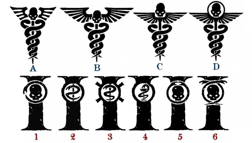 Warhammer 40k Medical Symbols Cast Your Vote Attachments